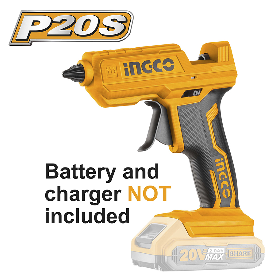 Πιστόλι Θερμόκολλας 20V SOLO CGGLI2001 INGCO