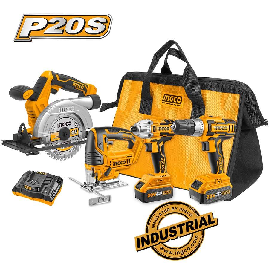 Σετ 4 τεμ. επαγγελματικά εργαλεία 20V CKLI2010 INGCO