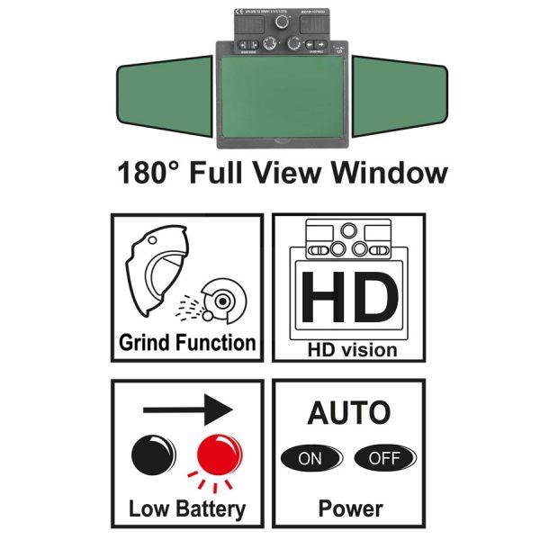 Μάσκα ηλεκτρονική ηλεκτροσυγκόλλησης πανοραμική AHM001