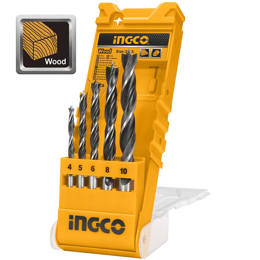 Τρυπάνια ξύλου σετ 5τεμ. AKD5058 INGCO