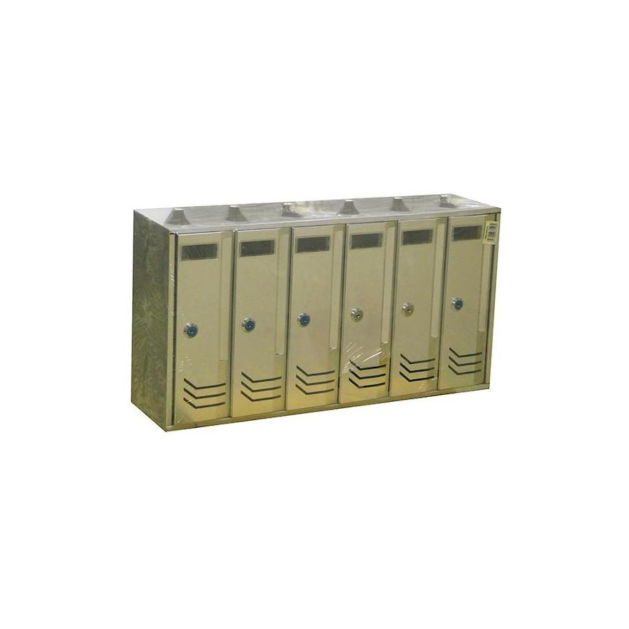 Γραμματοκιβώτιο 6 θέσεων χρυσαφί ματ ΓΓ176
