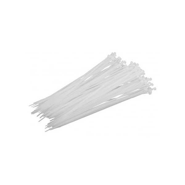Δεματικά Καλωδίων Λευκά 50τεμ. 9,0χ760mm 02322 Morgan