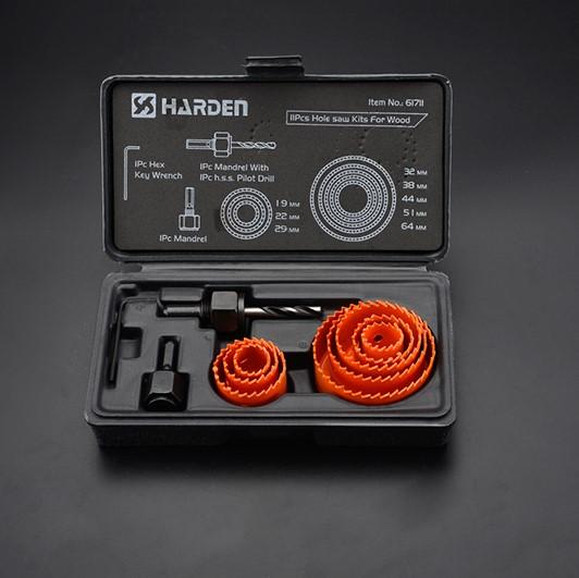Ποτηροτρύπανα ξύλου 8 τεμ. 64-127mm 610545 HARDEN