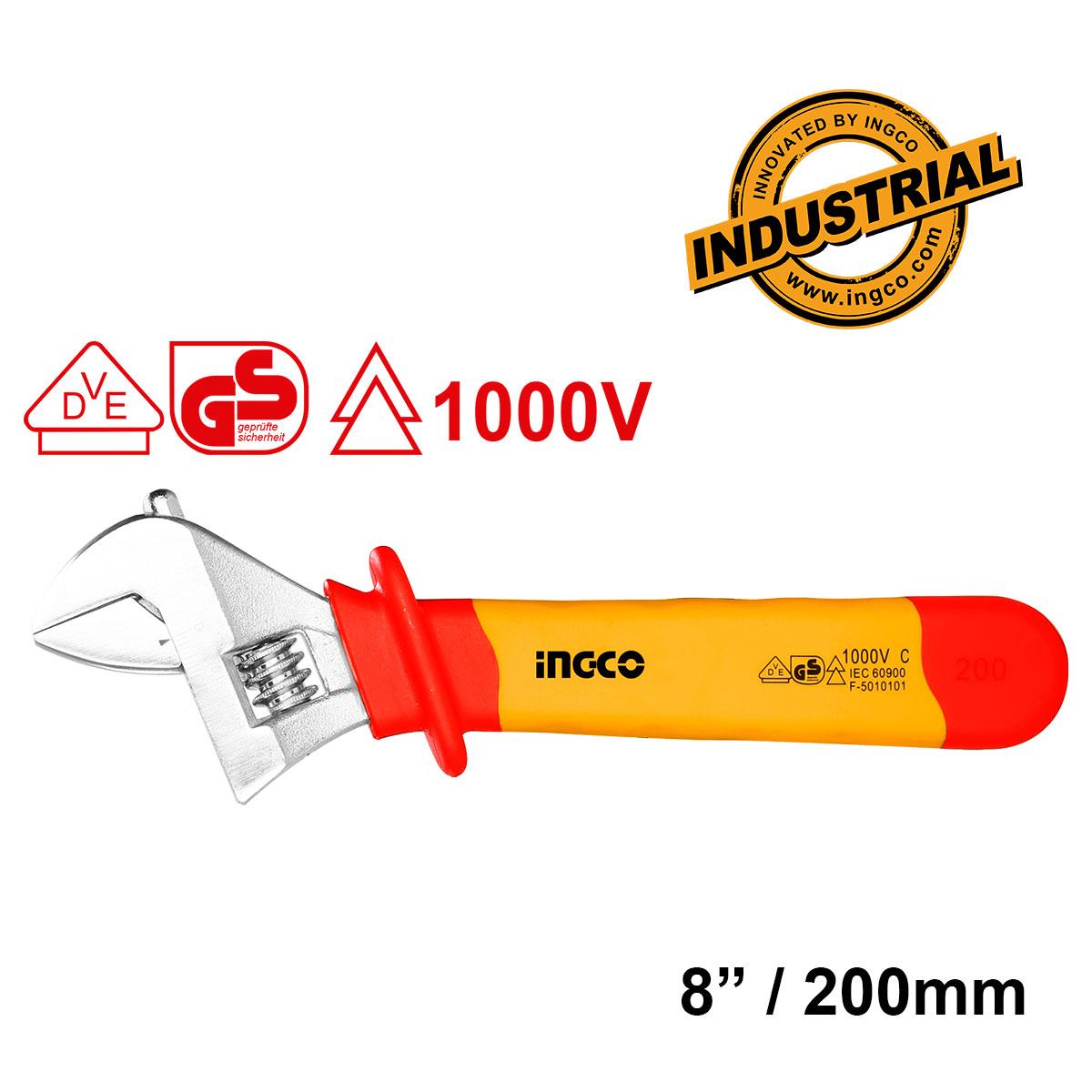 Γαλλικό κλειδί ηλεκτρολόγου 200mm HIADW081 INGCO