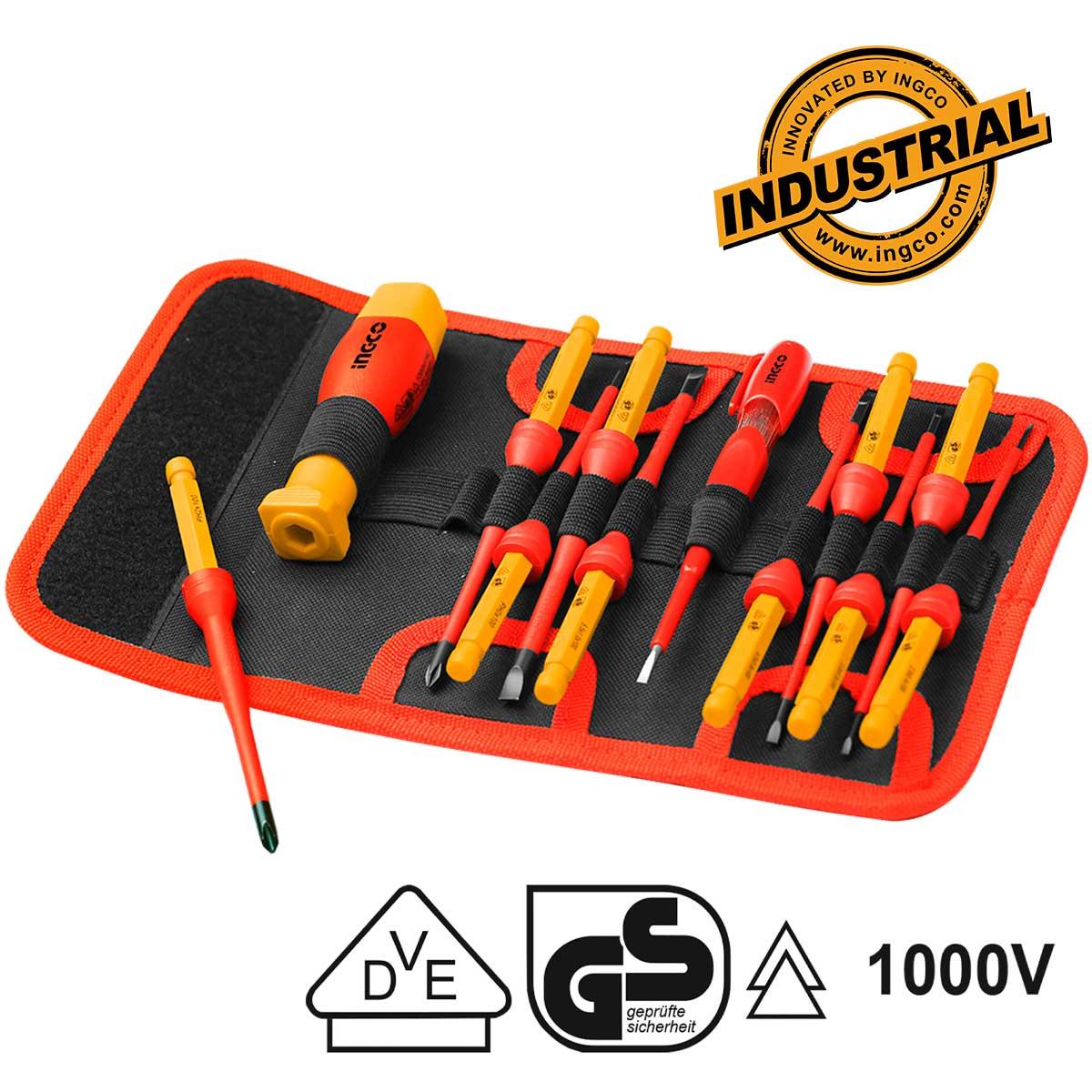 Κατσαβίδια ακριβείας ηλεκτρολόγου σετ 12τεμ. HKISD1201 INGCO